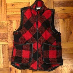 Jolt Flannel Vegan Leather Plaid Check Vest